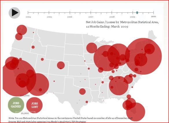 ECON - 2009-03-31 - Geographic distribution of job losses